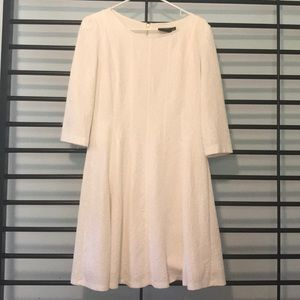 Off white mid thigh 3/4 sleeve dress